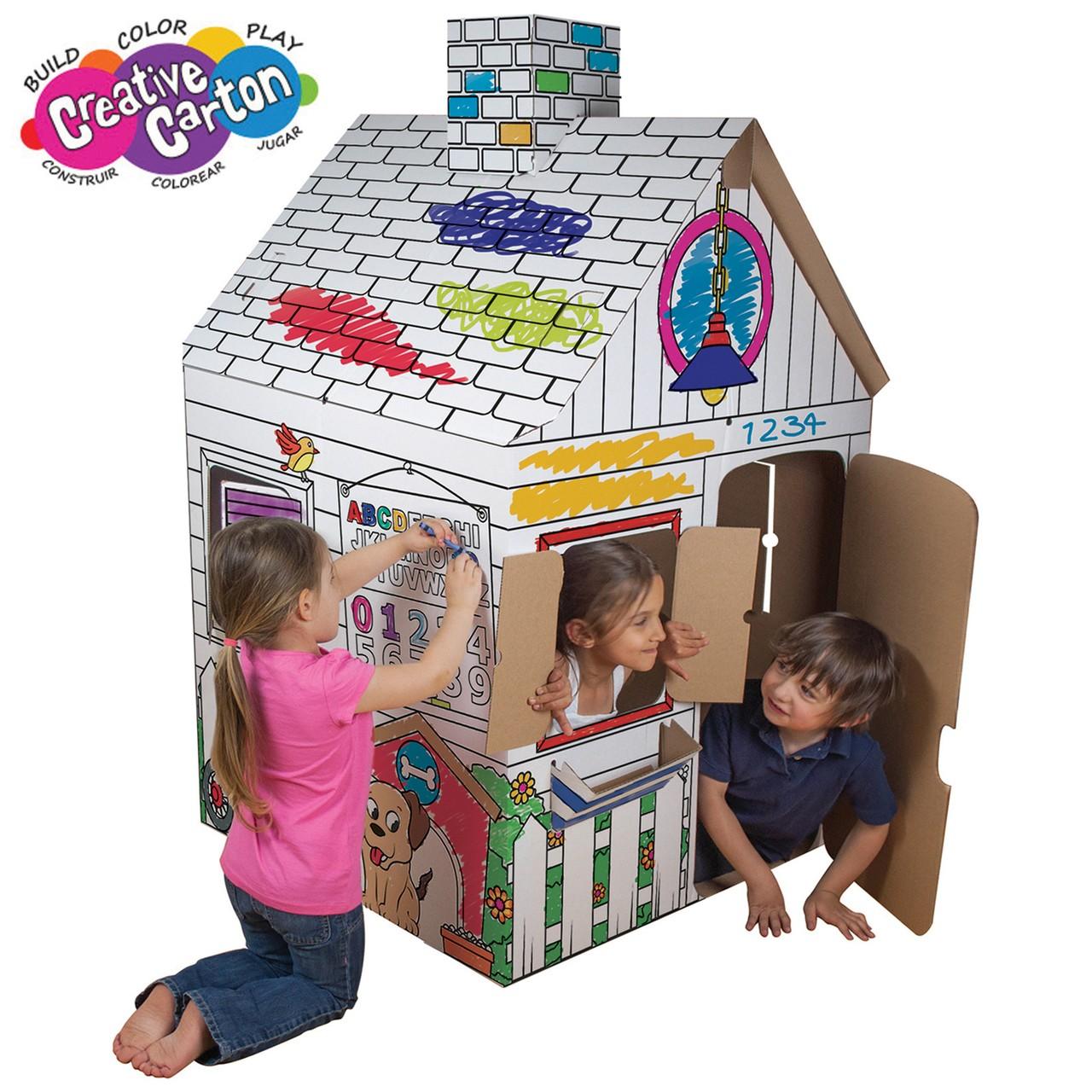 Color & Create Cardboard Playhouse - Creative Carton ...