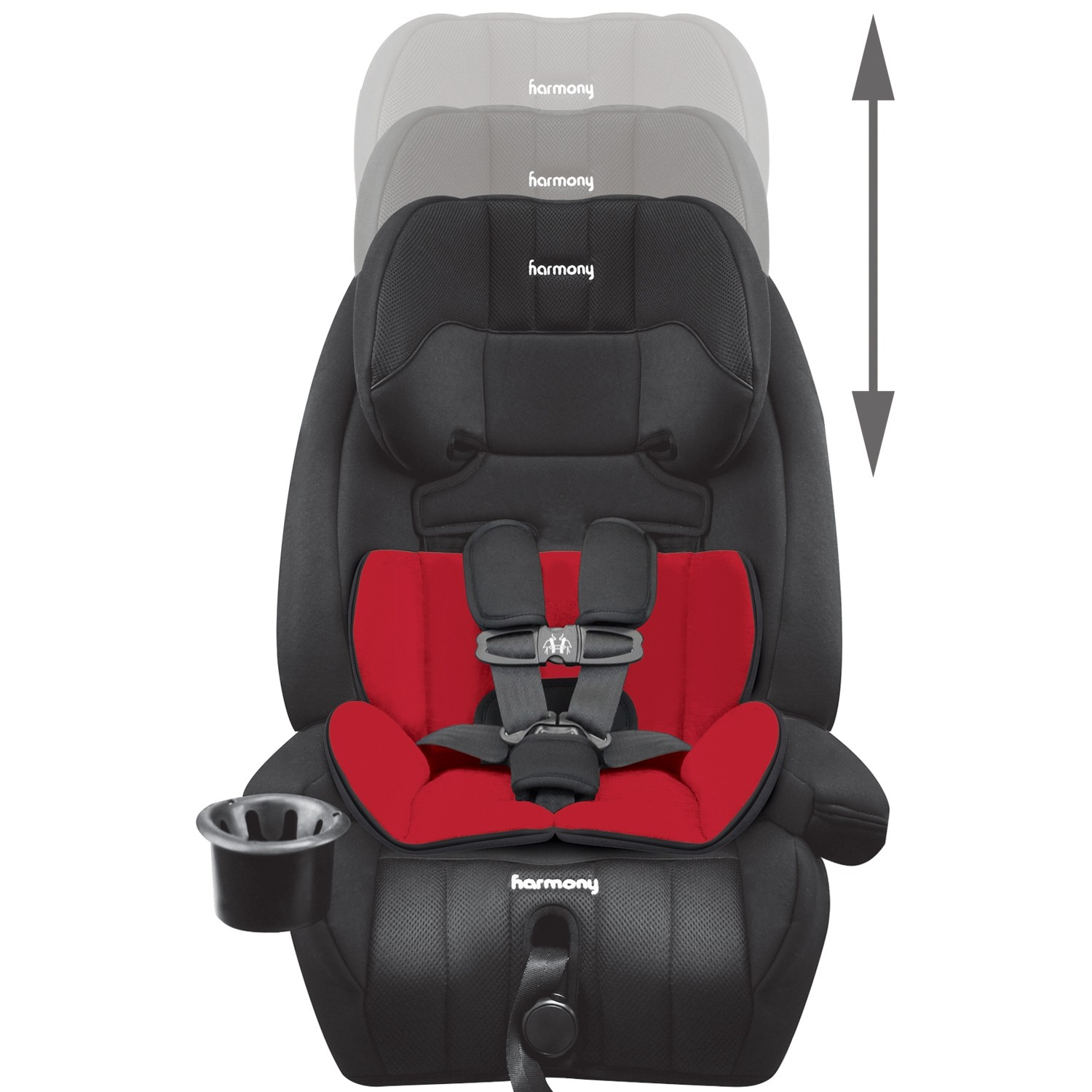 Defender 360° Elite 3-in-1 Combination Car Seat - Midnight with Red & Black Reversible Insert
