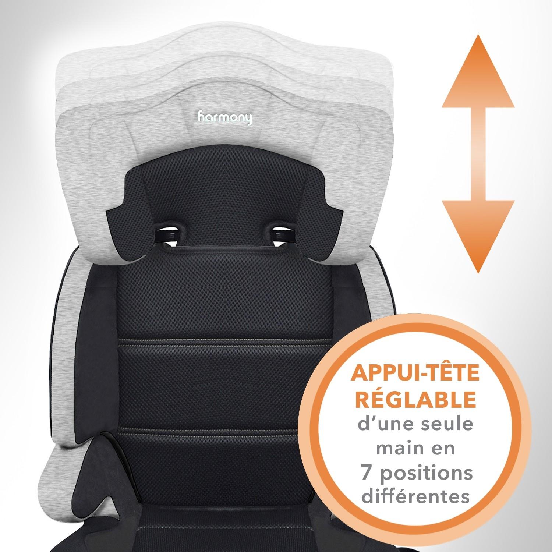 Dreamtime Deluxe - Siège d'auto d'appoint confort - Gris Chiné