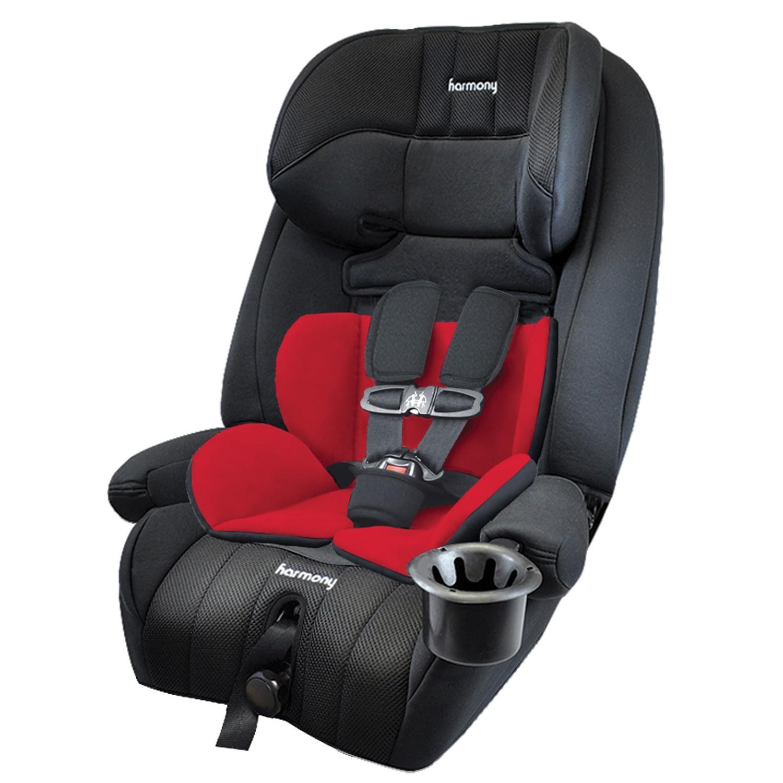 Defender 360° Elite siège d'auto combinaison 3-en-1 - Minuit avec Coussin de soutien réversible Rouge et Noir