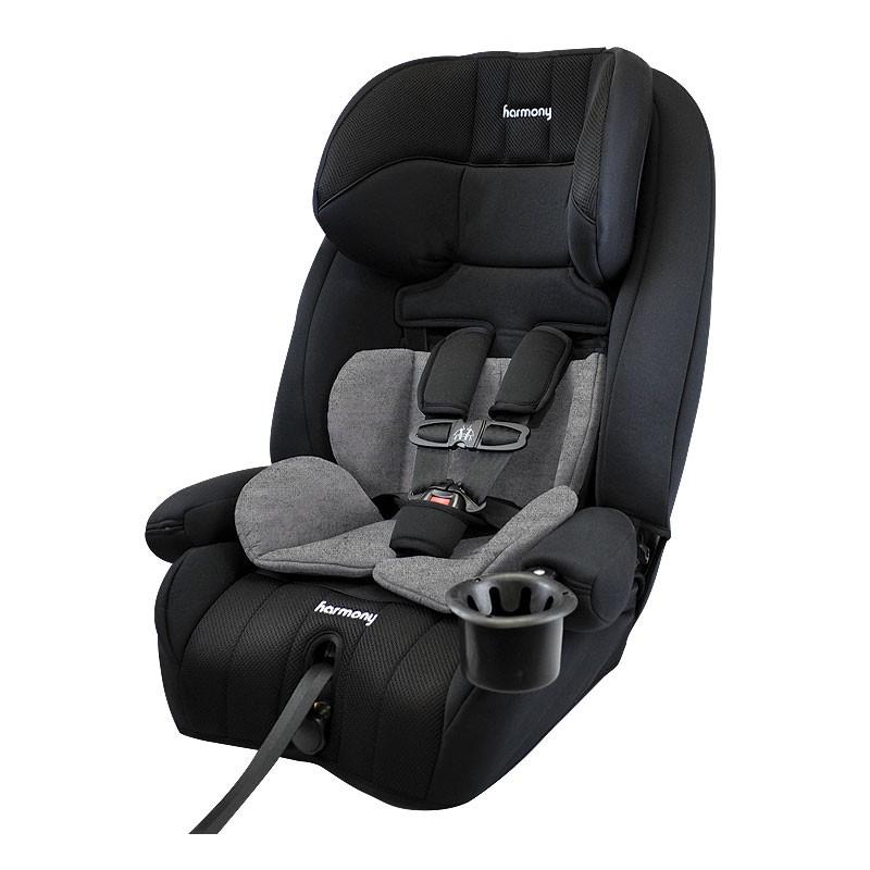 Defender 360° siège d'auto combinaison de luxe 3-en-1 - Minuit avec encart Heather Grey