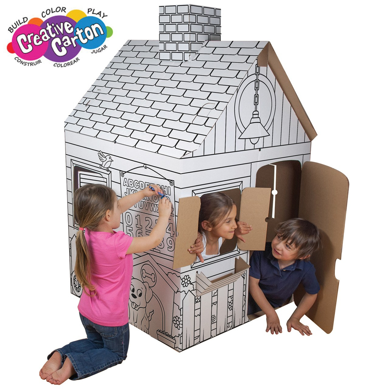 Color & Create Cardboard Playhouse 2