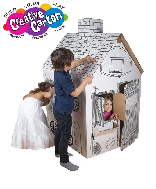 Color & Create Cardboard Clubhouse