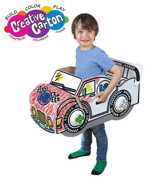 Color & Create Cardboard Lil' Racer