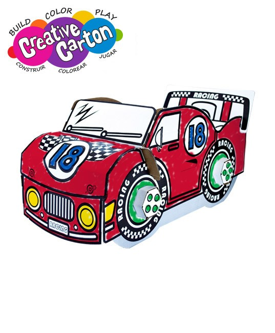 Color & Create Cardboard Lil' Racer
