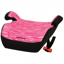 Youth Booster Car Seat - Pink Zebra