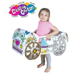 Color & Create Cardboard Princess Carriage
