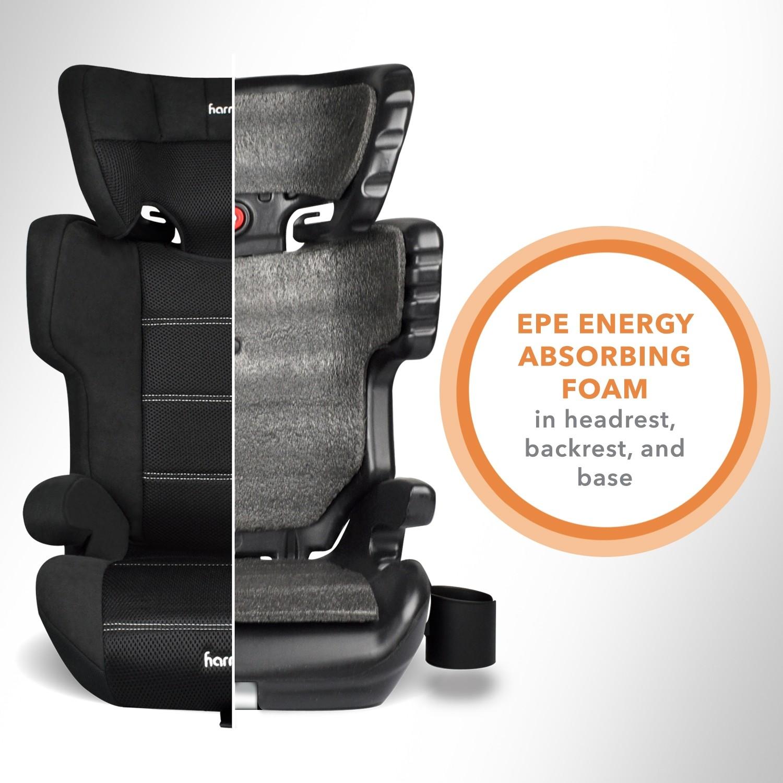 Dreamtime Elite - Asiento elevador comfort con LATCH - Negro