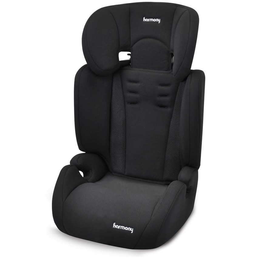 Venture Deluxe Harnessed Car Seat - Black with Grey Insert