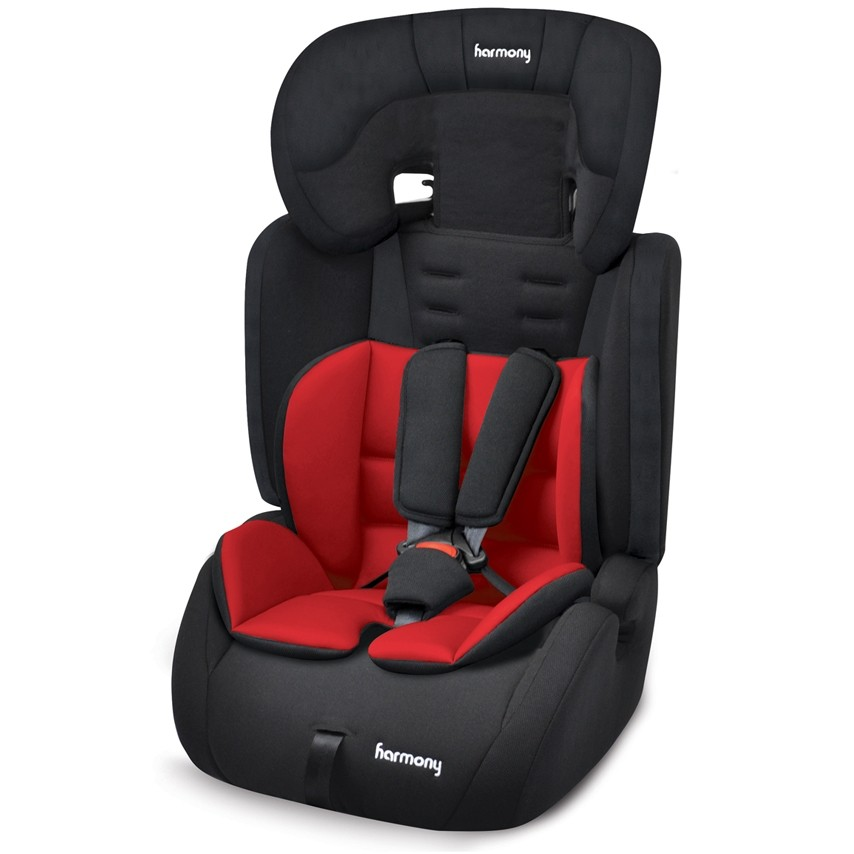 Venture Deluxe Harnessed Car Seat - Black with Red/Black Reversible Insert